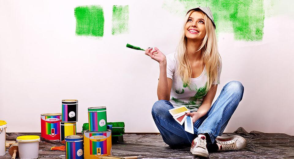 Съвети при боядисване с блажна боя