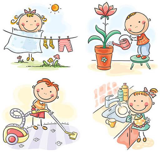 Как да научим детето да помага в домакинството